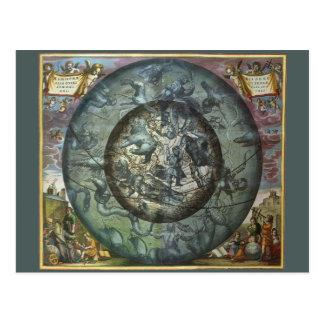 Carte Postale Constellation du nord céleste d'astronomie vintage
