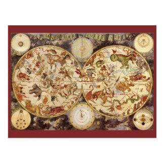 Carte Postale Constellations vintages d'astronomie, Frederik de