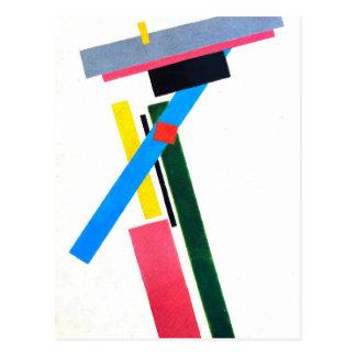 Carte Postale Construction de Suprematistic par Kazimir Malevich