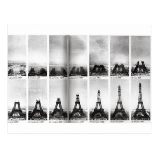 Carte Postale Construction de Tour Eiffel