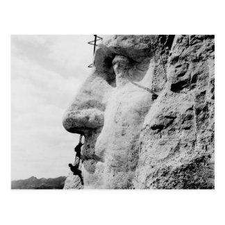 Carte Postale Construction du mont Rushmore