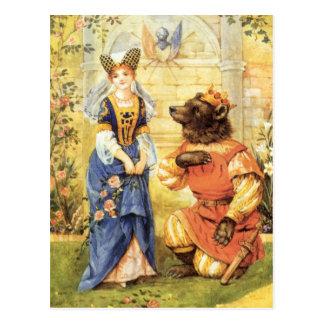 Carte Postale Conte de fées vintage, beauté et la bête