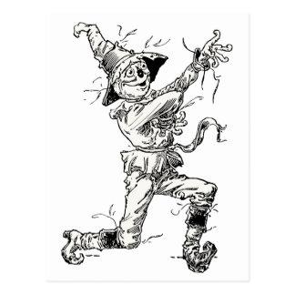 Carte Postale Contes de fées vintages de magicien d'Oz,