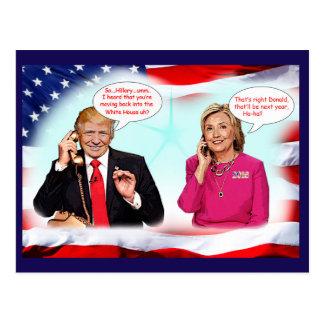 Carte Postale Conversation de téléphone d'atout d'Anti-Donald