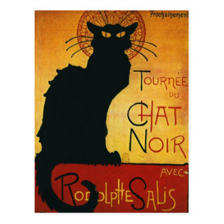 Carte Postale Conversation Noir - chat noir