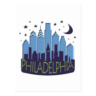 Carte Postale Cool de méga d'horizon de Philly
