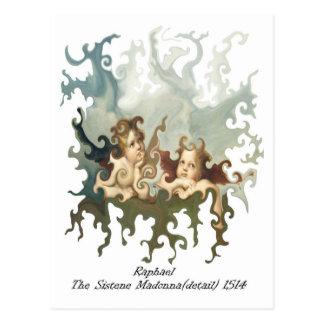 Carte Postale Coordonnée de Raphael du Sistene Madonna