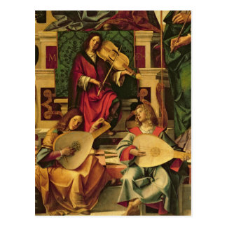 Carte Postale Coordonnée des musiciens d'ange