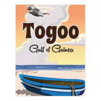 Carte Postale Copie d'affiche de voyage du Togo le golfe de