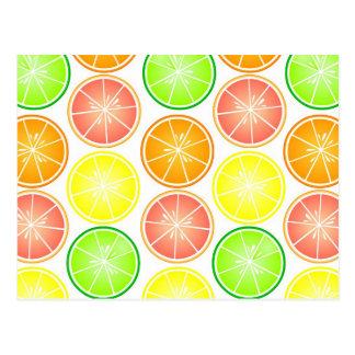 Carte Postale Copie d'agrumes - pamplemousse d'orange de chaux