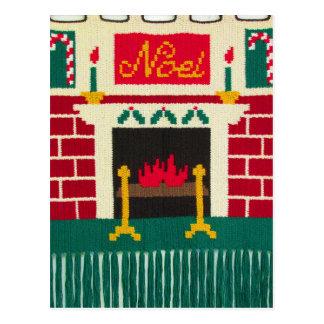 Carte Postale Copie de crochet de cheminée de brique de vacances