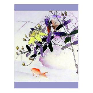 Carte Postale Copie de Japonais de martin-pêcheur de poisson