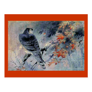 Carte Postale Copie de Japonais d'oiseau de faucon