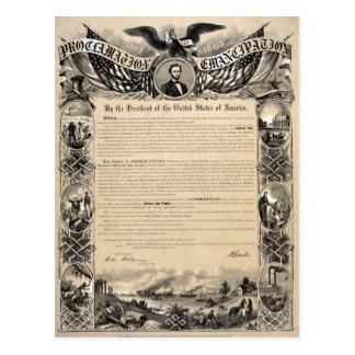 Carte Postale Copie de proclamation d'émancipation