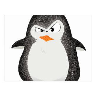 Carte Postale Copie fâchée de photo de scintillement de pingouin