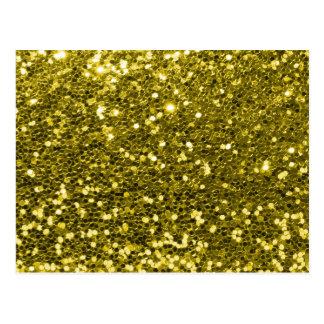 Carte Postale Copie fascinante d'étincelle de scintillement d'or