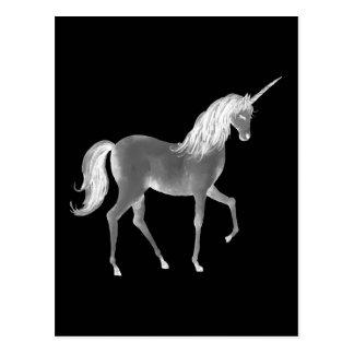 Carte Postale Copie noire et blanche de licorne