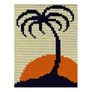 Carte Postale Copie orange de crochet de coucher du soleil de