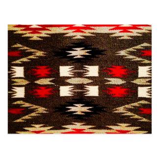 Carte Postale Copie tribale de conception de Navajo de Natif