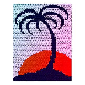 Carte Postale Copie tropicale unique de crochet de coucher du