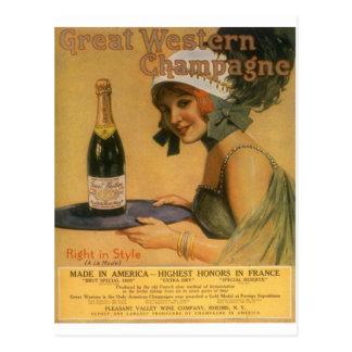 Carte Postale Copies vintages d'annonces d'alcool