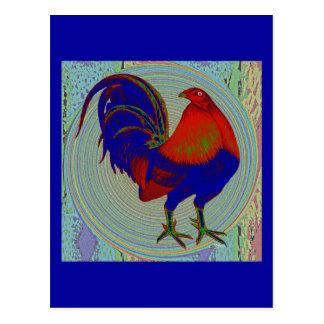 Carte Postale Coq de combat :  Coq impressionniste