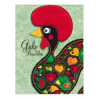 Carte Postale Coq du Portugal - le Galo de Barcelos
