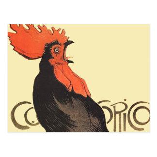 Carte Postale Coq français Cocorico par l'affiche d'art de