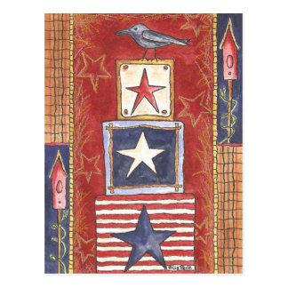 Carte Postale Corneille sur des étoiles