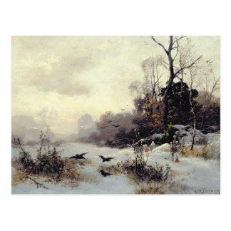 Carte Postale Corneilles en hiver Landscape, 1907