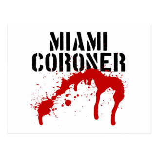 Carte Postale Coroner de palladium de métro de Miami