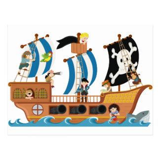 Carte Postale Corsaire de bateau de pirate