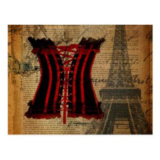 Carte Postale Corset de cru de partie de Paris Bachelorette