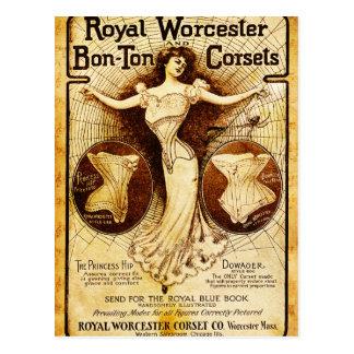 Carte Postale Corsets royaux de Worcester