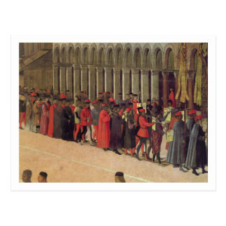Carte Postale Cortège dans le carré de St Mark, détail de