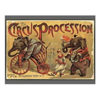 Carte Postale Cortège de cirque, 1888, cru