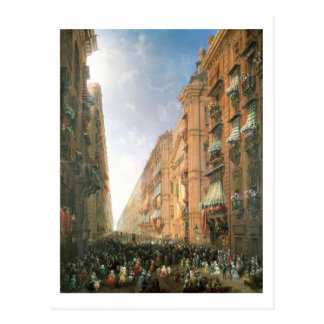 Carte Postale Cortège de Corpus Christi dedans par