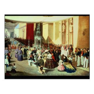 Carte Postale Cortège de Corpus Christi en Séville