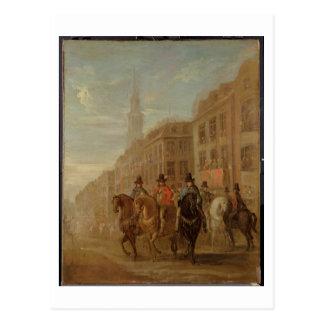 Carte Postale Cortège de restauration de Charles II chez
