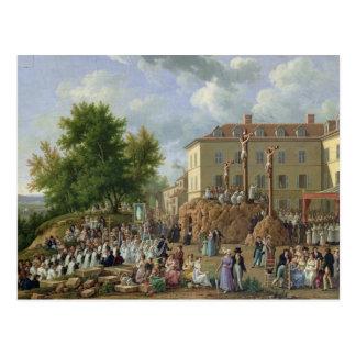 Carte Postale Cortège religieux à Mont Valerien, 1819