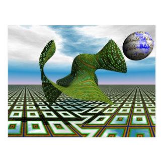 Carte postale cosmique de caniche