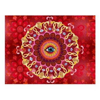 Carte postale cosmique psychédélique de mandala