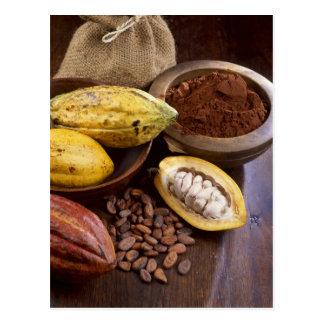 Carte Postale Cosse de cacao contenant les haricots de cacao qui