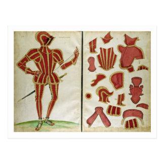 "Carte Postale Costume d'armure pour le comte de Leicester de """
