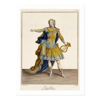 """Carte Postale Costume pour Apollo dans l'opéra """"Phaethon"""","""