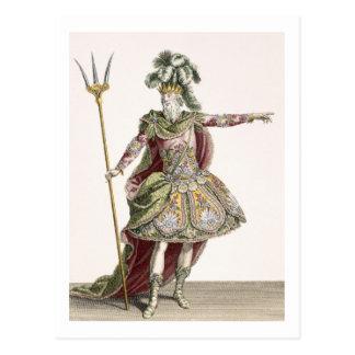 Carte Postale Costume pour Neptune dans plusieurs opéras, gravé