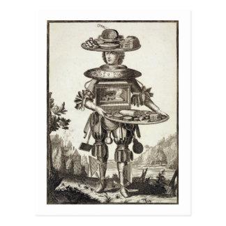 Carte Postale Costume pour un cuisinier de pâtisserie, pub. par