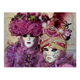 Carte Postale Costume pourpre de carnaval, Venise
