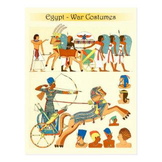 Carte Postale Costumes de guerre et couvre-chefs de l'Egypte
