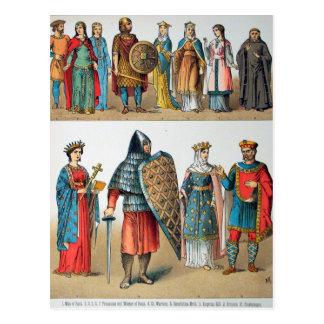 Carte Postale Costumes médiévaux
